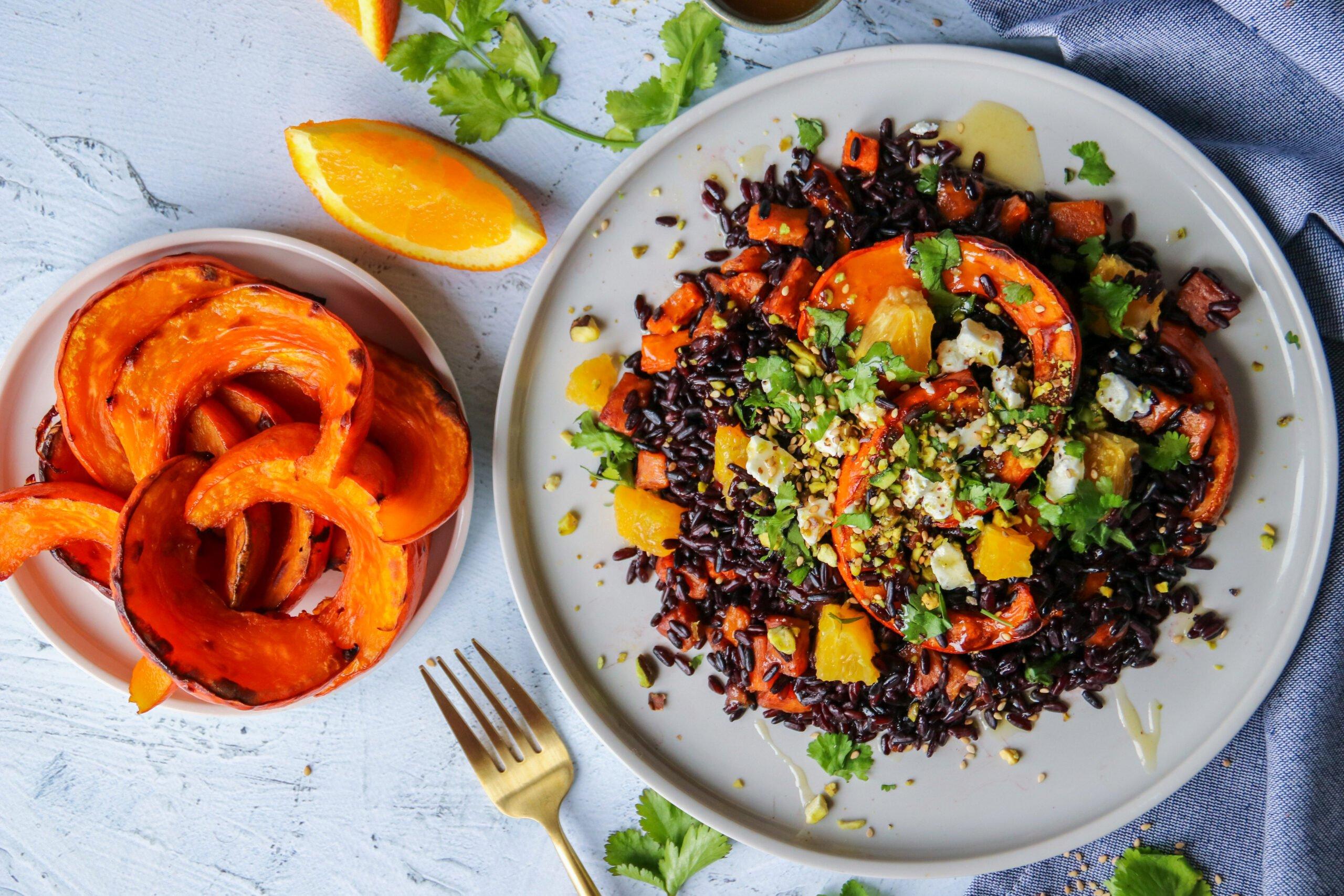 Riz venere sauté aux légumes