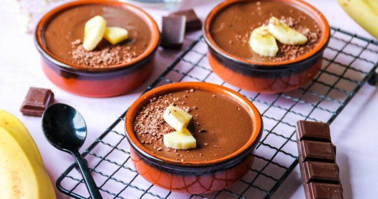 Crèmes healthy banane chocolat