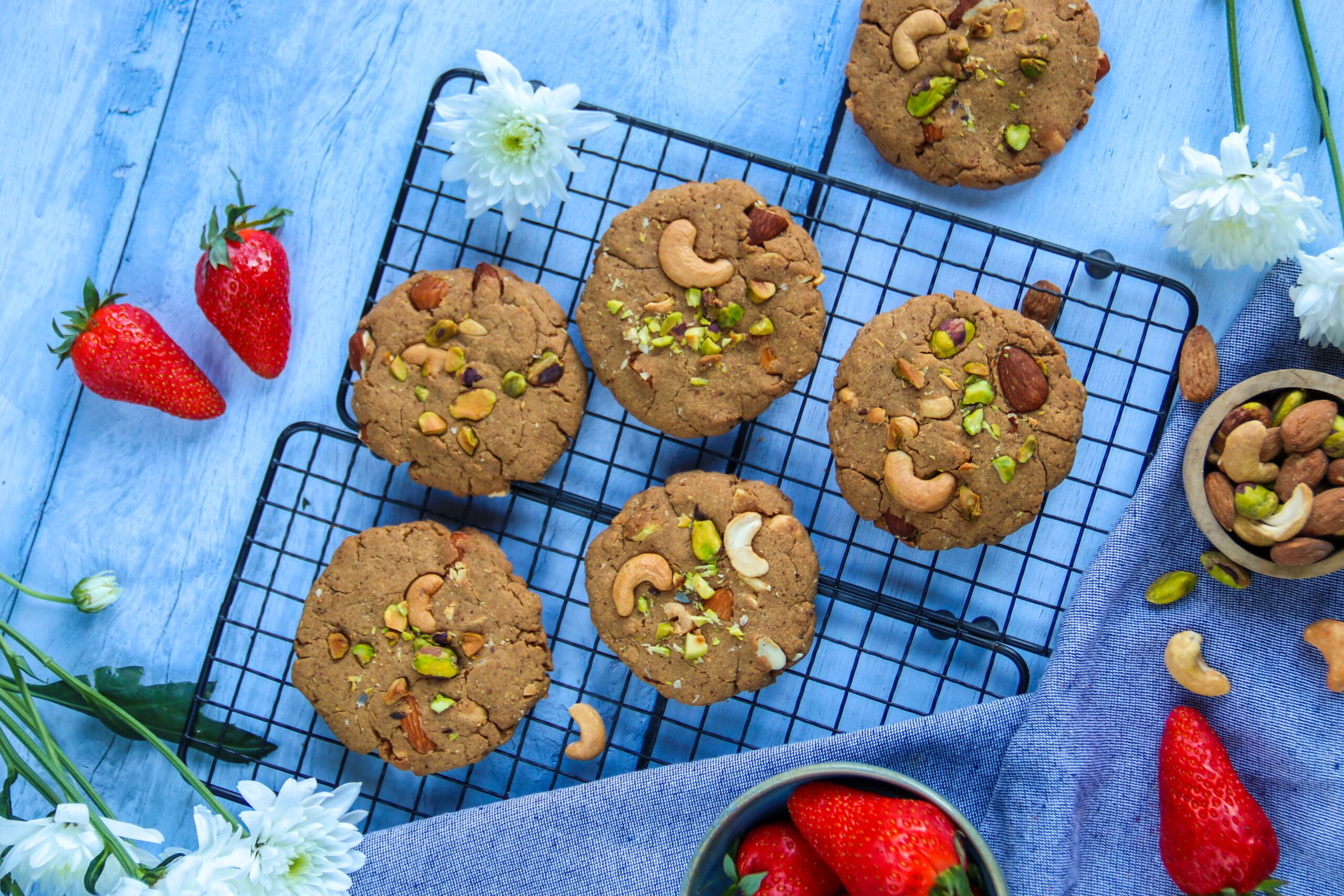 Cookies amandes, pistaches et cajou