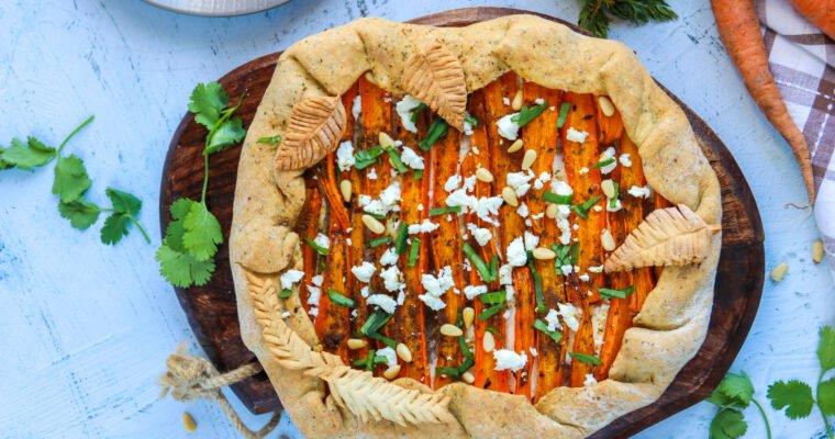 Tarte rustique aux carottes et à la fêta