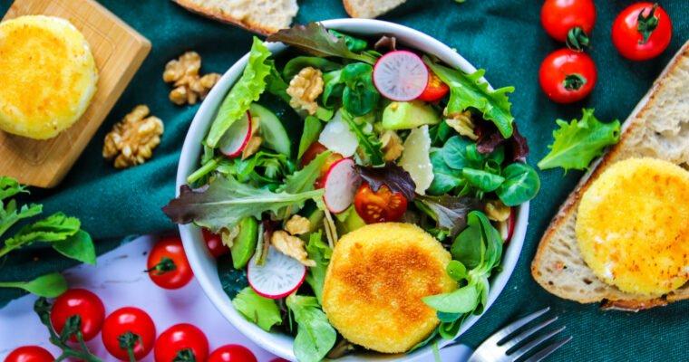 Salade de chèvre chaud maison