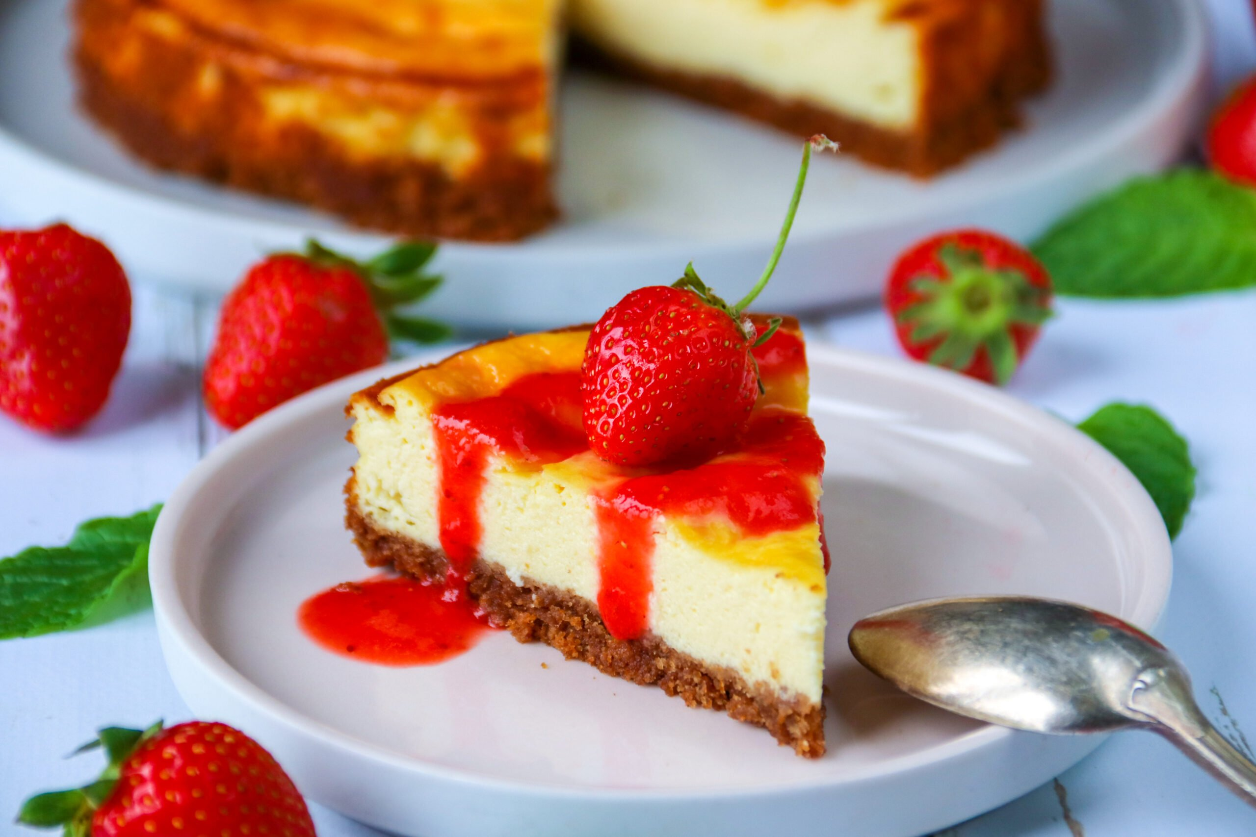 Cheese-cake fraises et spéculos