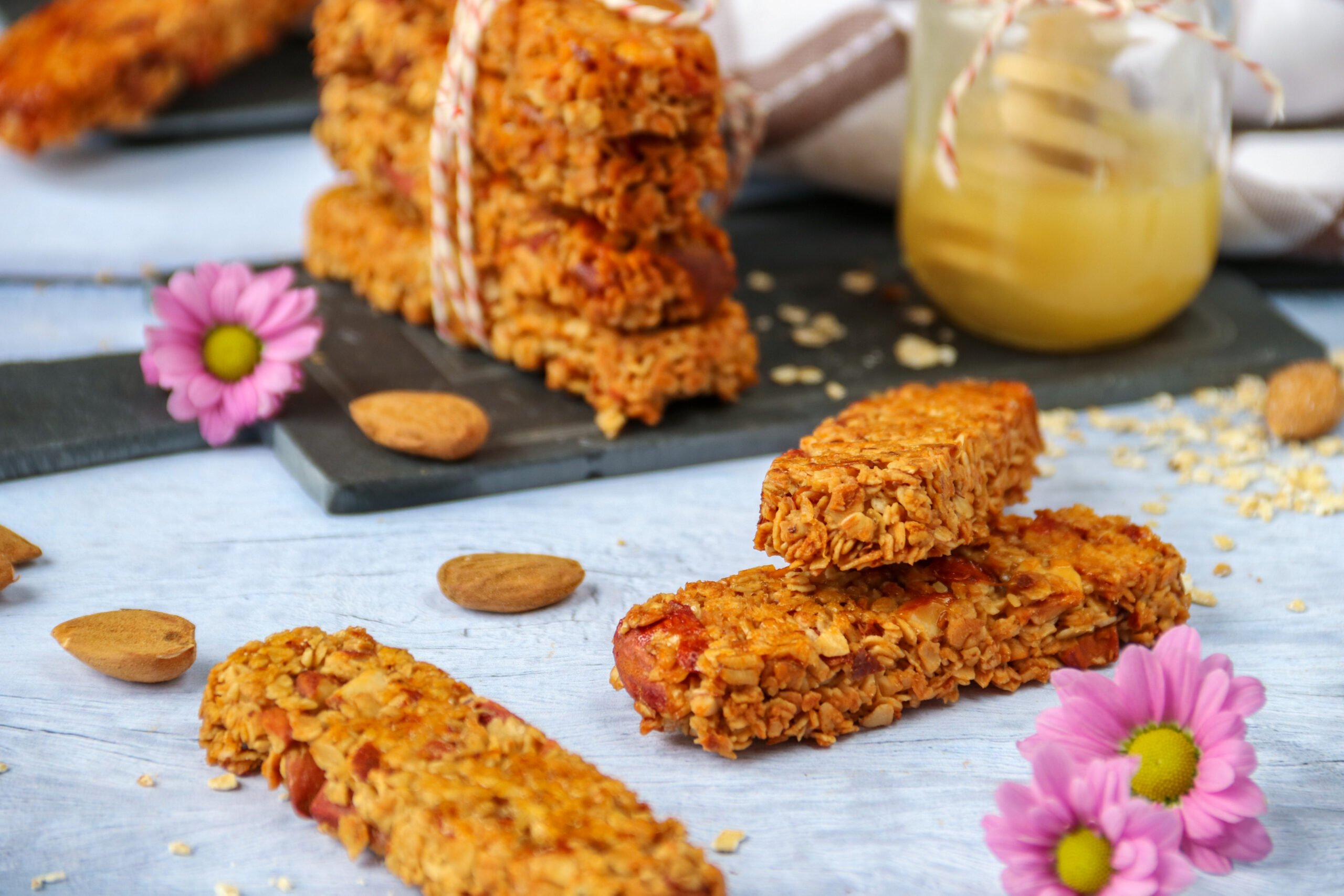 Barres de céréales faciles amandes et miel