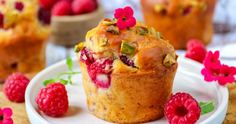 Muffins healthy aux framboises