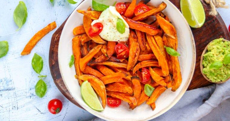 Frites de patates douces au four sans friture