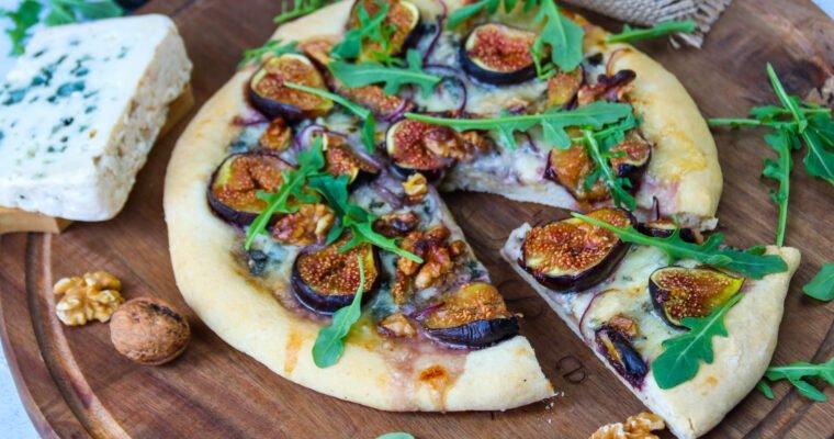 Pizza au Roquefort et aux figues