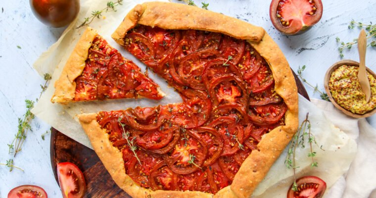 Tarte rustique aux tomates et à la moutarde