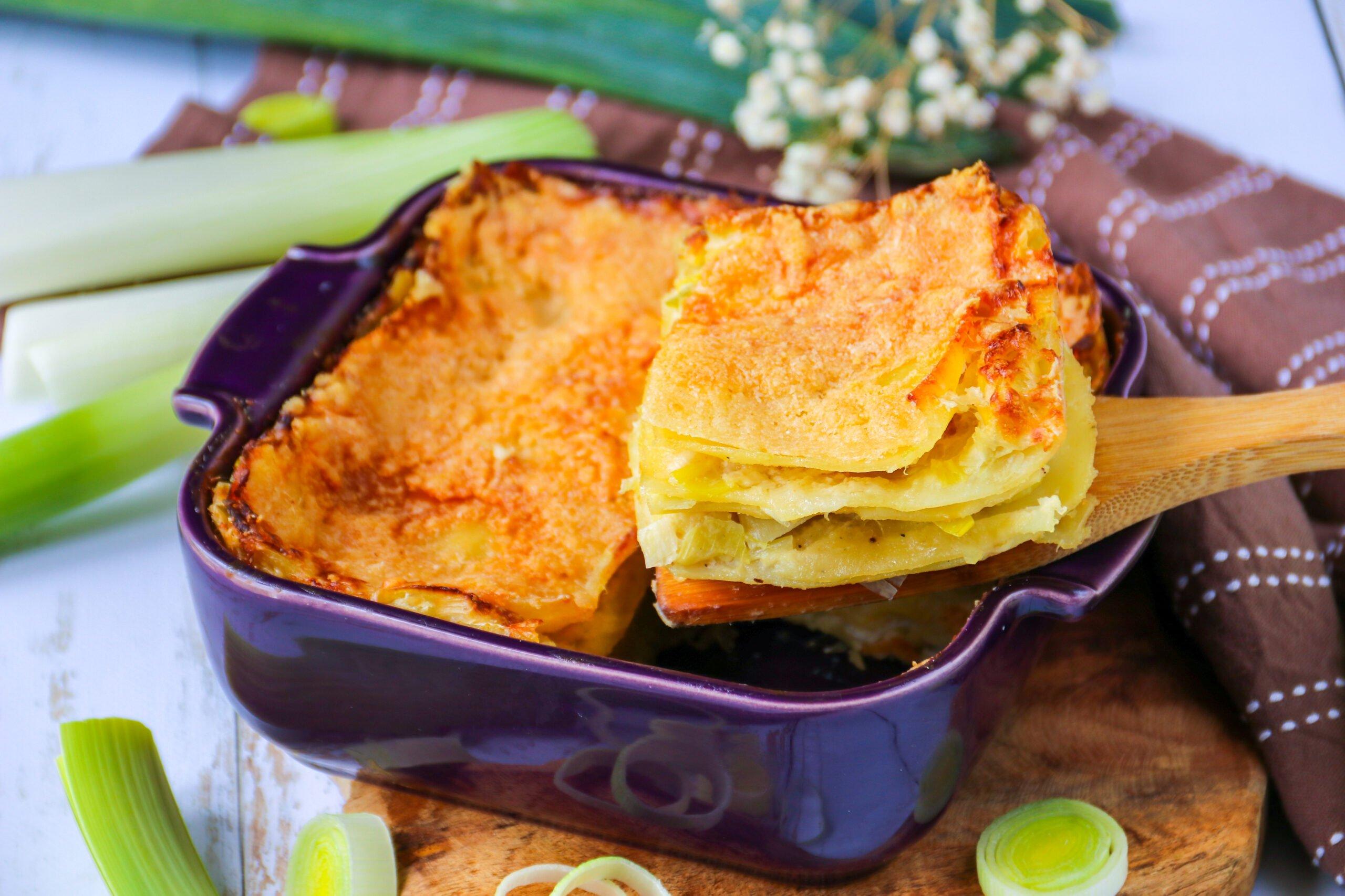 Lasagnes faciles aux poireaux et au parmesan