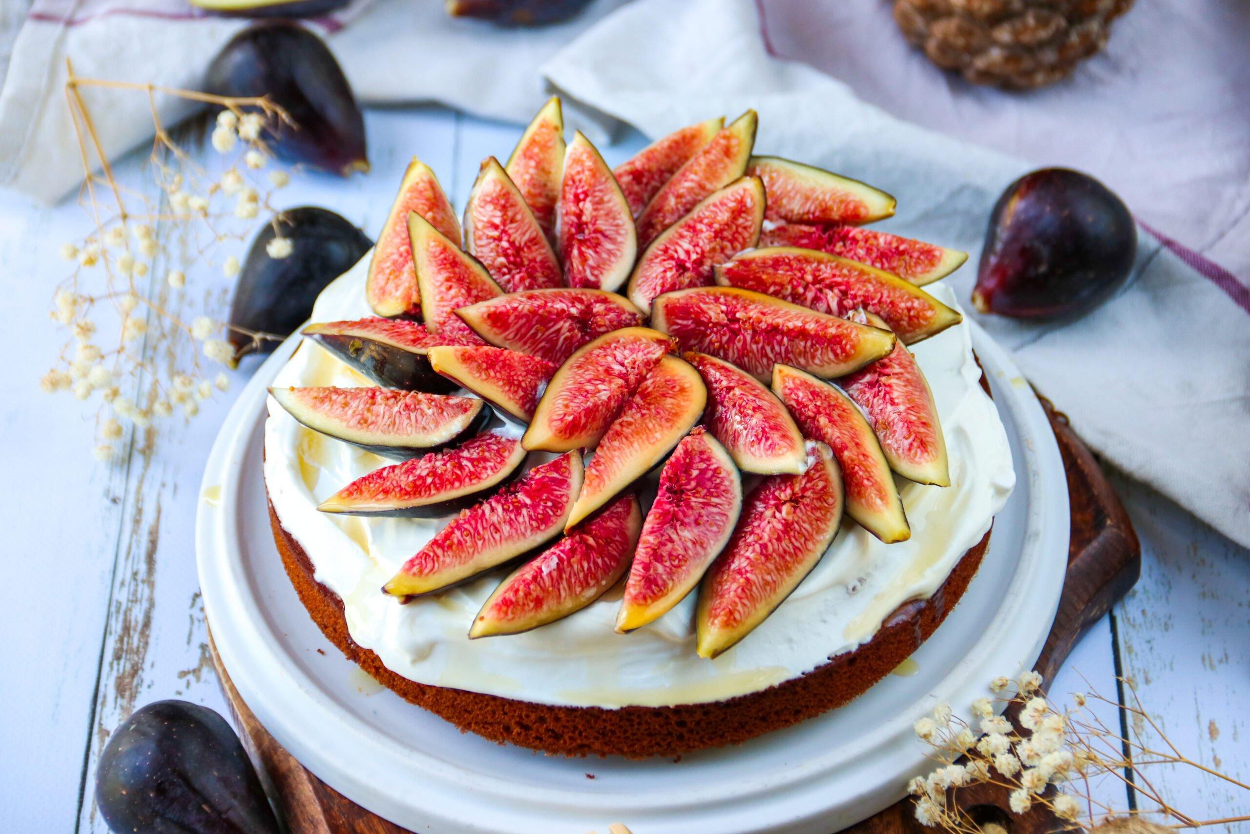 Gâteau au sarrasin, noisettes et figues